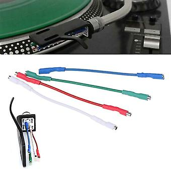 Pure Sliver Leads/header Wire Cable  Universal For Turntable Phono Headshell