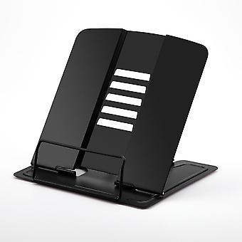 Portable Metal Book Stand/holder/document Bookshelf Reading Accessories Tool