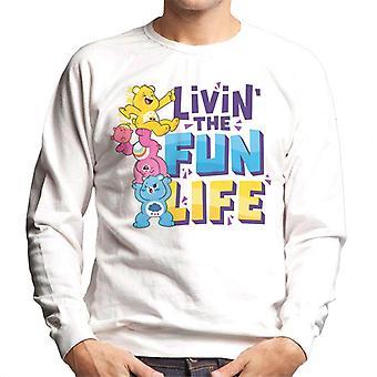 Care Bears Unlock The Magic Livin The Fun Life Men's Sweatshirt
