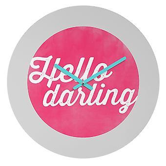 Hello Darling Wall Clock