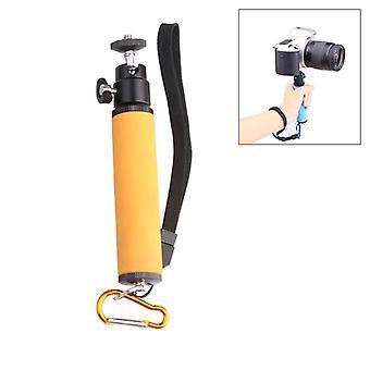 Led Flash Light Holder Sponge Steadicam Monopod portatile con Gimbal per fotocamera SLR (arancione)