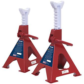 Sealey Vs2006 Axă standuri 6Tonne Capacitate pe stand 12Tonne pe pereche ratchet