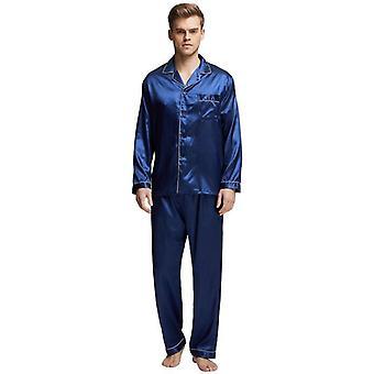 Satin Silk Pajama Set, Men Pajamas Silk Sleepwear Sexy Modern Style Soft
