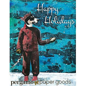 Terrier Holiday Card Or Card Set