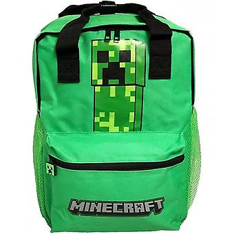 Minecraft Creeper Backpack Skolväska Ryggsäck Väska 38cm