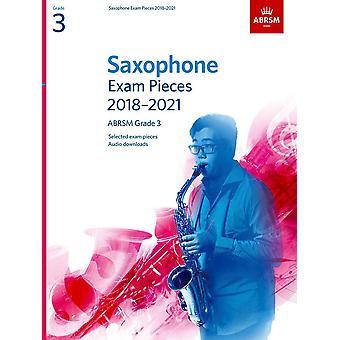 Peças do Exame saxofone 2018-2021, Abrsm Grade 3 Paperback