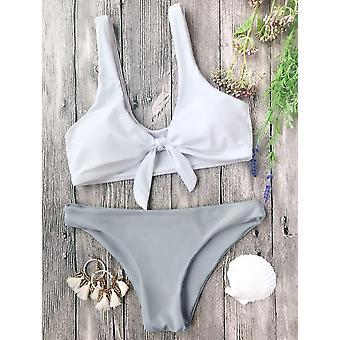 Bowknot Front Sexy Bikini Set