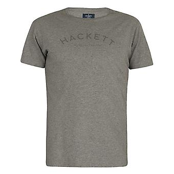 Hackett Mens London Classic Logo T-Shirt Grey Top HM500335 913