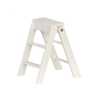 Dolls House White Step Ladders Small Miniature 2 Inch High Accessory