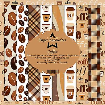Paper Favourites Coffee 6x6 Inch Paper Pack
