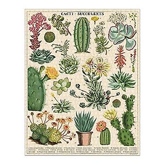 Cavallini CACTI AND SUCCULENTS Jigsaw Puzzle 1000 Pieces
