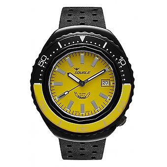 Squale 2002.PVD.BKY.Y.NT 1000 Meter Swiss Automatic Dive Wristwatch Rubber