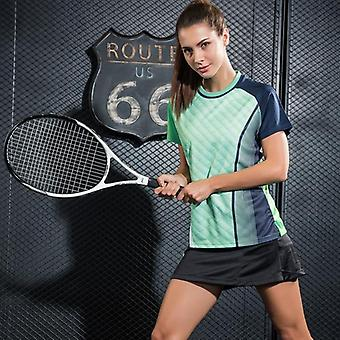 Table Tennis Badminton Quick Dry Breathable Printed Sport Shirts And Women