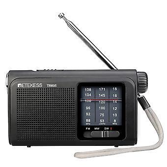 Retekess TR605 SW MW FM Rádio 3 Pásmo ručne vyladené rádio núdzové baterku
