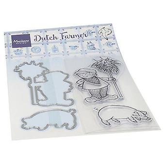 Marianne Design Jasne znaczki i Umiera Hetty's Dutch Farmer Ht1653 Znaczki. Umiera