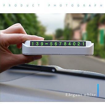 Auto temporäre Parkplatz Telefonnummer Karte Stellzeichen