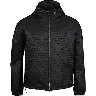 Armani All Over Logo Hooded Jacket