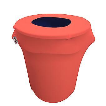 La Linen Stretch Spandex Trash Can Cover 32-Gallon Round,Coral