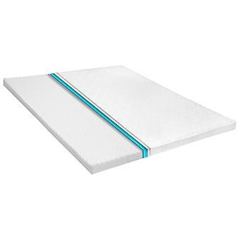 vidaXL mattress topper 160 x 200 cm cold foam egg profile 6 cm