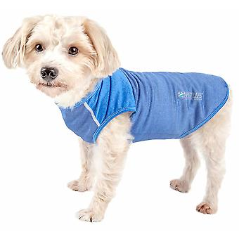 Haustier Leben aktiv 'Aero-Pawlse' Heathered Quick-Dry und 4-Wege-Stretch-Performance Hund Tank Top T-Shirt, Seafoam blau - X-Large