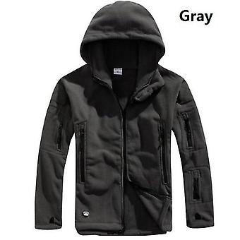 Men Winter Thermal Fleece, Military Tactical Jacket, Outdoors Sports Hooded