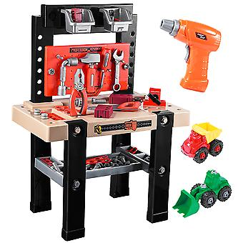 Ibasetoy 91pcs Children Repair Tools Toy Kids Role Play Pretend Play Toy Set Educational Learning Toys
