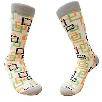 Colorful Square Pattern Socks from the Sock Panda