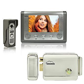 Súprava SilverCloud House 715 Video Interface Kit so 7-palcovou LCD obrazovkou a elektromagnetizmom Yala SilverCloud YR300