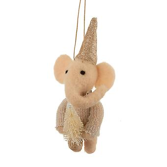 Sass and Belle Elephant Christmas Decoration