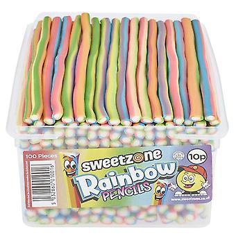 SweetZone Rainbow Pencils (100) pieces 1.1kg