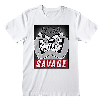Looney Tunes Herren Savage Taz T-Shirt