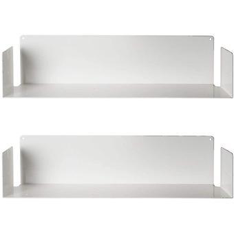 FengChun - Set mir 2 Wandregale, Stahl, Wei, 60 x 15 x 15 cm