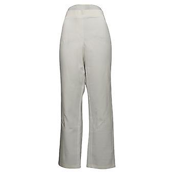 Susan Graver Kvinders Bukser Lige Ben Pull-On White A308641