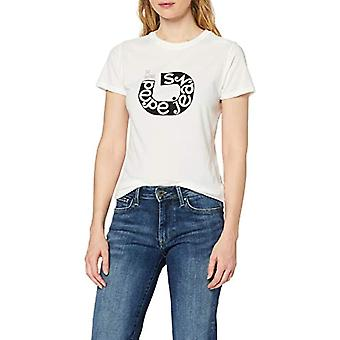 Pepe Jeans Cadee T-Shirt, Ivory (Mousse 808), Small Woman
