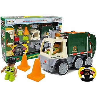 Legetøj skraldebil RC bil - med fjernbetjening