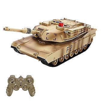 Rc tank 1/24 fjernkontroll militær kamptank leketøy med lys cai319