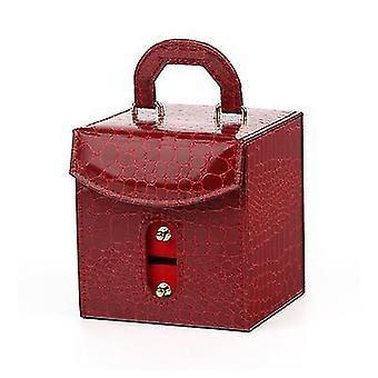 Punaisen tytön kannettava korujen säilytyslaatikko x5042