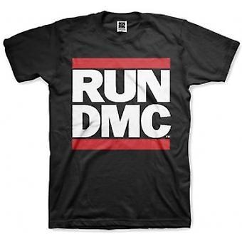 Run DMC Logo Black Mens T Shirt: Medium