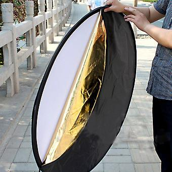 """24"""" 60Cm 5 in 1portable collapsible light round photography studio photo oval collapsible light reflector handhold photo disc"""