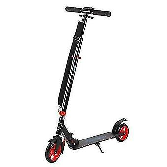 Adult And Youth Foldable Scooter With Shock Absorber, Handbrake, Two-wheel Scooter(Red)