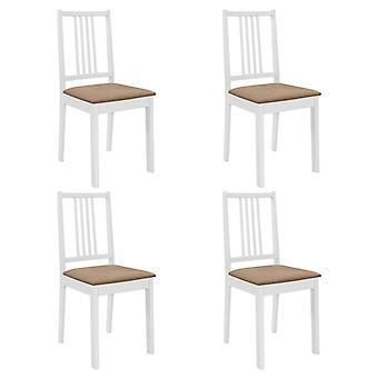 vidaXL تناول الطعام الكراسي مع المفروشات 4 أجهزة الكمبيوتر الشخصية.