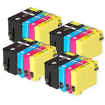 4 Ensemble de 4 cartouches d'encre pour remplacer Epson T2715 (série 27XL) Compatible/non-OEM de Go Inks (16 Encres)