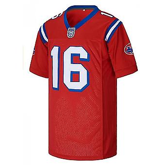 Mens #16 Shane Falco The Replacements Movie Football Jersey Gestikt Rood Wit