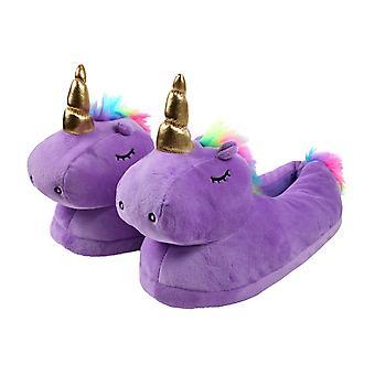 Pantofole unicorno Viola - Taglia Unica 36 – 41 - Pantofole