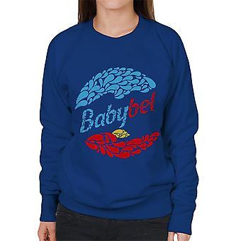 Baby Bel Blå Och Röda Droppar Kvinnors Sweatshirt