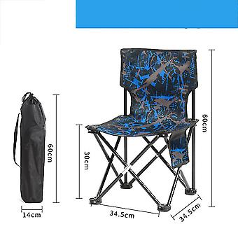 Camping Stool Portable Folding Stool for Outdoor Beach Hiking Fishing(60x34.5x34.5cm)(Blue)