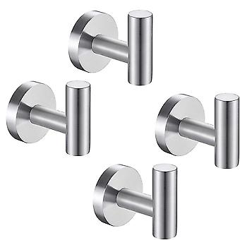 4 pieces Single Robe Hook Wall Hooks for Hanging Towel Coat