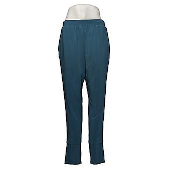 MarlaWynne Women's Pants Matte Jersey Slouched w/ Pockets Blue 664944