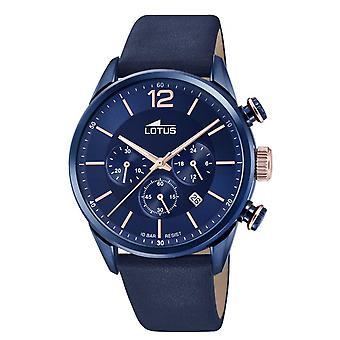 Montre Lotus L18681-2 - CHRONO Dateur/Chronographe Cuir Bleu Cadran Bleu Homme
