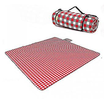 Beach mats foldable waterproof padded picnic mat red